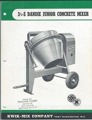 Equipment Data Sheet - Kwik-mix 3 12-s Dandie Concrete Mixer - Brochure E5438