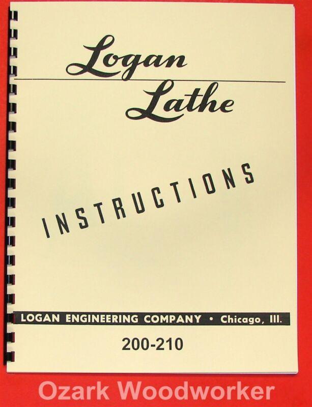 LOGAN 200 210 Metal Lathe Instructions Manual 0457