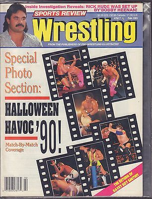 Halloween Review (Sports Review Wrestling February  1991 Halloween Havoc'90 VG)