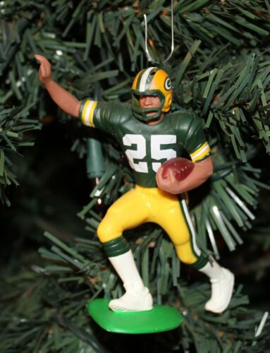 """Dorsey Levens Green Bay Packers #25 Football Christmas Ornament Green Jersey 4"""""""