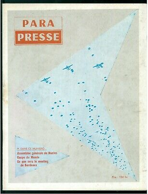 PARA PRESSE REVUE DE PARACHUTISTES FRANCAIS N. 26 1958 PARACADUTISMO AERONAUTICA