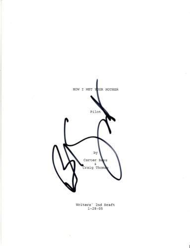 BOB SAGET SIGNED 'HOW I MET YOUR MOTHER' PILOT EPISODE SCRIPT w/COA ACTOR