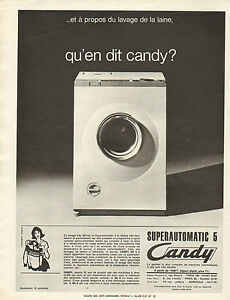 publicit 1965 candy machine laver lave linge superautomatic 5 ebay. Black Bedroom Furniture Sets. Home Design Ideas