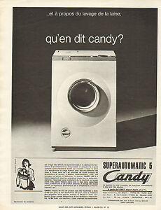 publicit 1965 candy machine laver lave linge. Black Bedroom Furniture Sets. Home Design Ideas