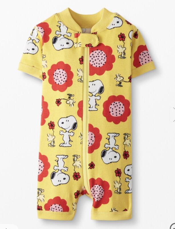 Hanna Andersson Peanuts Snoopy Shorty Sleeper NEW Size 75 (12-18 Months)