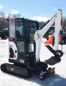Fully Loaded Bobcat e20 Mini Excavator
