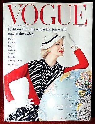 Vogue Magazine ~ March 15, 1955 ~ Sunny Hartnett Rawlings Norman Parkinson