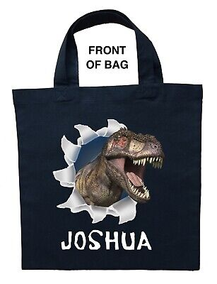 Personalized Halloween Treat Bag (Dinosaur Trick or Treat Bag - Personalized Dinosaur Halloween)