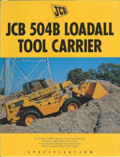 Equipment Brochure - JCB - 504B - Loadall Tool Carrier Loader - c1994 (E6497)