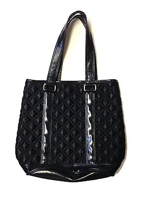 Marc Jacobs Quilted Nylon Leather Black Medium Size Tote Bag Purse R Handbag](Black Quilted Tote Bag)