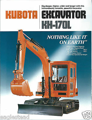 Equipment Brochure - Kubota - Kh-170l - Excavator - C1987 E2922