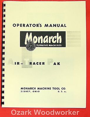 Monarch Air Tracer Pak Lathe Operator Parts Manual 0475