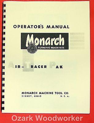 Monarch Air Tracer Pak Lathe Operator Parts Manual 0475