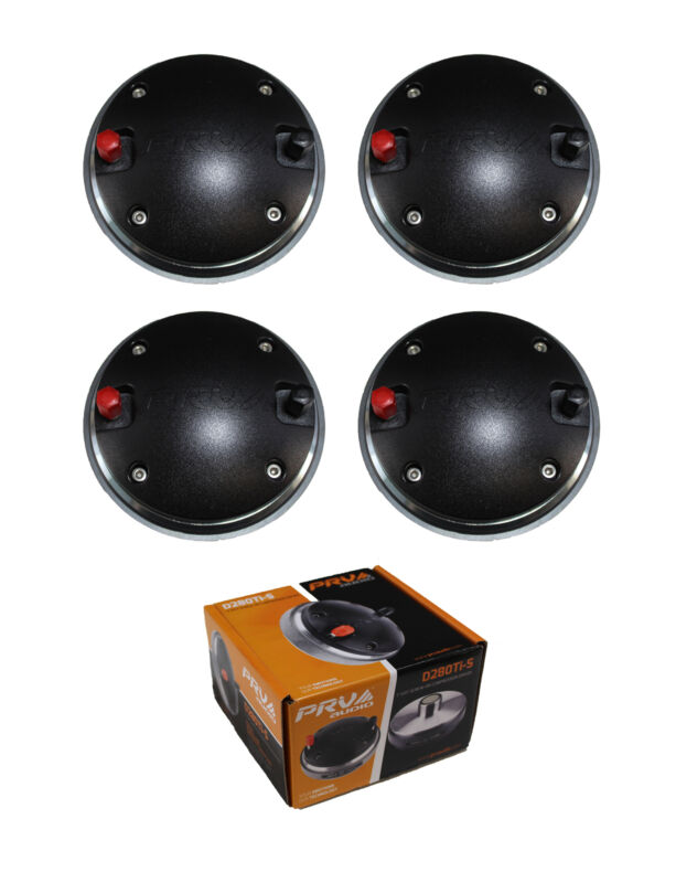 """2 Pair of 640W 1"""" Exit Screw-On Compression Driver 8 Ohm D280Ti-S"""