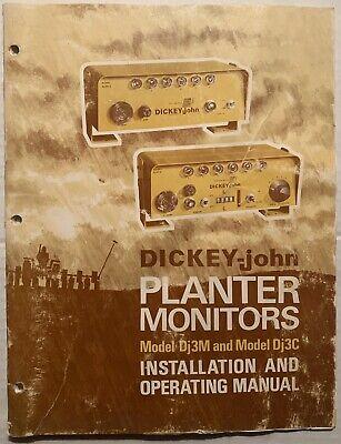 1975 Dickey John Model Dj3m Dj3c Planter Monoitor Installation Operating Manual