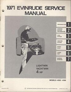 Evinrude Lightwin 4 hp manual