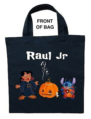 Lilo and Stitch Trick or Treat Bag, Personalized Lilo and Stitch Halloween Bag