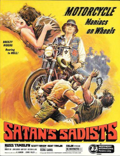 SATANS SADISTS (1969) RUSS TAMBLYN PRESSBOOK BIKER/MOTERCYCLE