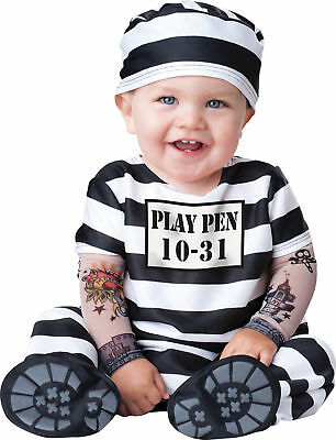 Toddler Jail Costume (Time Out Toddler Costume Baby Prisoner Jail Convict)