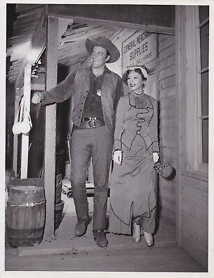 Circa 1955  Gunsmoke James Arness ,Amanda Blake  TV  Photo