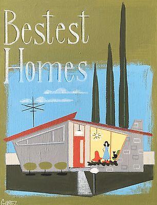 EL GATO GOMEZ RETRO VINTAGE MID CENTURY MODERN ATOMIC RANCH HOUSE EAMES ERA 50'S