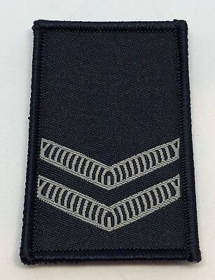 Police LBV Rank Woven Patch #2, Dark Blue, NSW, VIC, WA, QLD, SA, NT, Hook Rear