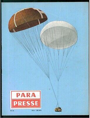 PARA PRESSE REVUE DE PARACHUTISTES FRANCAIS N. 32 1959 PARACADUTISMO AERONAUTICA