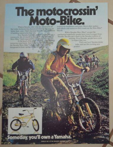 1974 Yamaha Motocross Moto Bike Print Ad