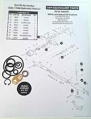 Seal Kit - Stanley Cs-25 Cs-28 Hydraulic Pole Saw Seal Kit 21053 -pack Of 10