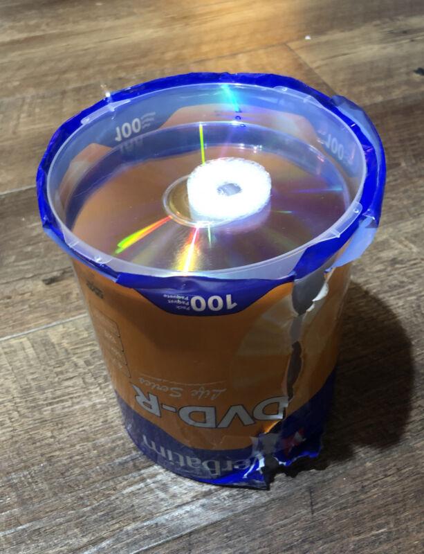 100 VERBATIM 16X DVD DVD-R 4.7GB Branded/ Logo Media Disc 96525