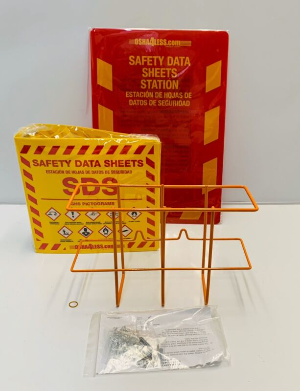 Osha4Less Bilingual Right To Know SDS Center Wire Rack With GHS Pictograms