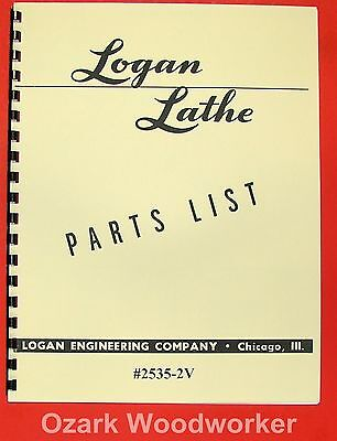 Logan 12 2535-2v Metal Lathe Parts Manual 0451