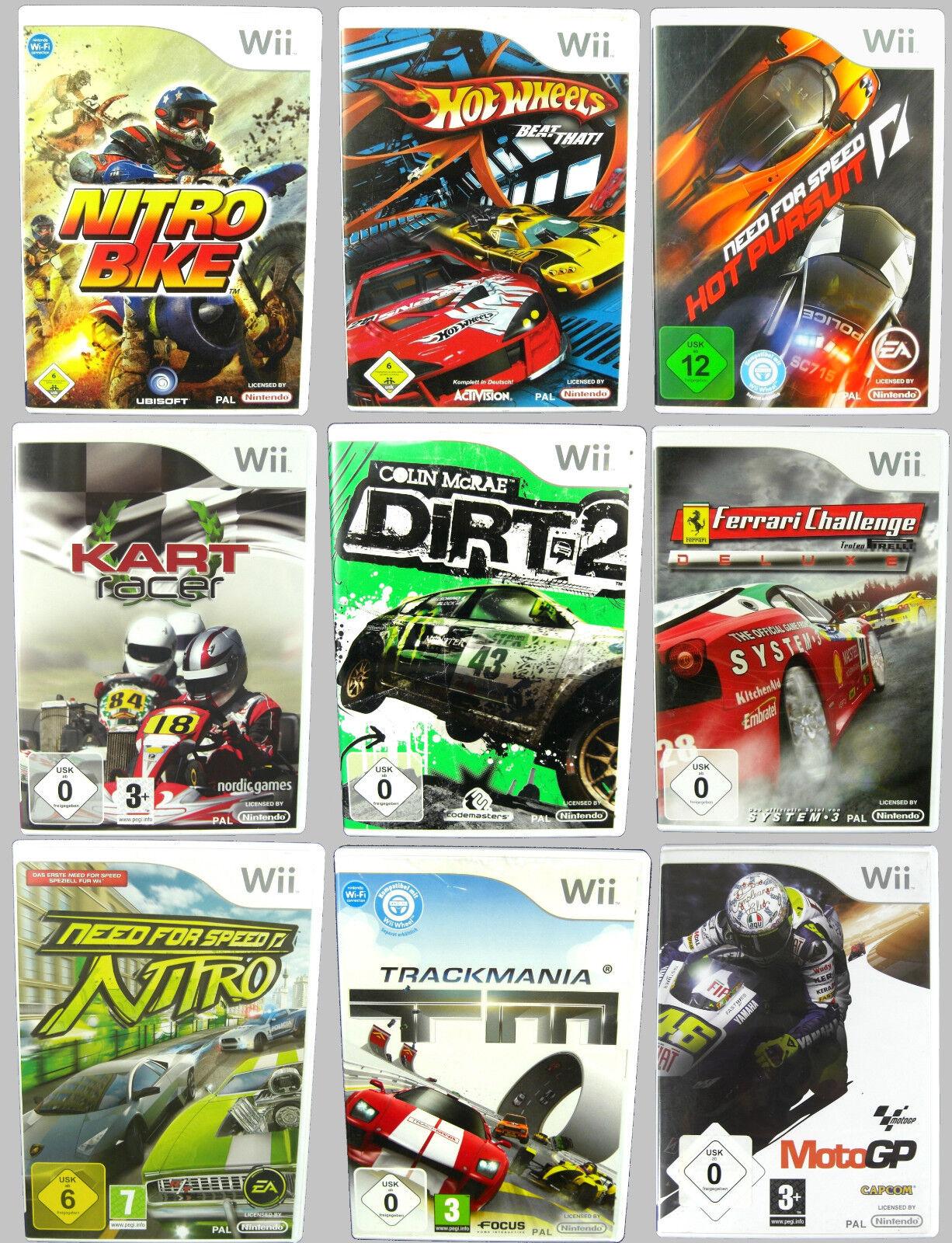 Rennspiele für Nintendo Wii: z.B. Need for Speed, Sonic, Dirt, Kart, Disney CARS