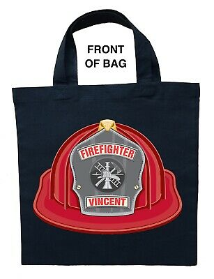 Fire Fighter Trick or Treat Bag - Personalized Fireman Halloween Bag - Halloween Trick Or Treat