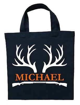 Personalized Halloween Treat Bag (Hunter Trick or Treat Bag,  Personalized Deer Hunting Halloween Bag, Hunter)
