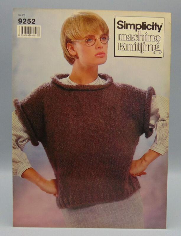 Simplicity Machine Knitting Cap Sleeve Pullover 9252