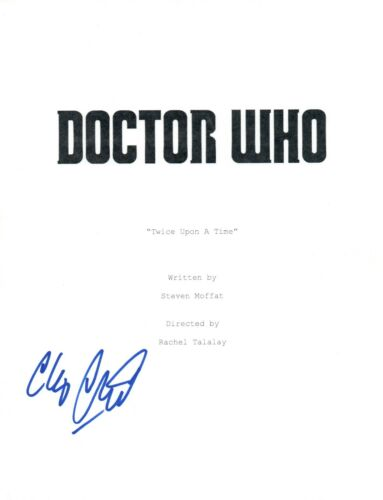 Chris Chibnall Signed DOCTOR WHO Twice Upon A Time Script Showrunner COA