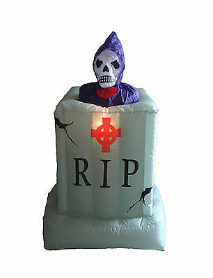 Halloween Air Blown Inflatable Yard Blowup Decoration Skeleton Ghost Tombstone