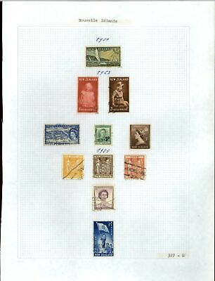 New Zealand 1951-1953 Album Page Of Stamps #V21274