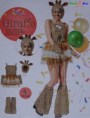 Damen Giraffe Kostüm Giraffenkostüm Tier Safari Fasching Karneval Afrika NEU