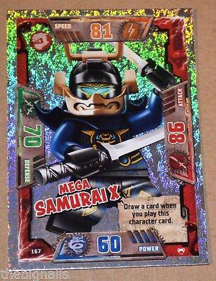 LEGO NINJAGO series 2 Trading Card Special MEGA SAMURAI X # 167
