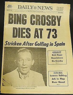 New York Daily News   October 15  1977   Bing Crosby Dies