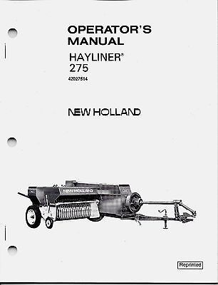 New Holland 275 Square Baler Operator Manual 42027514