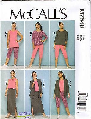 Stretch Knit Active Wear Pants Jacket Top Skirt Sewing Pattern Plus 18 20 22 24 Jacket Top Skirt Pants