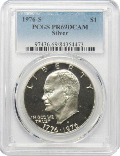 1976 S $1 Eisenhower Ike Silver Dollar PCGS PR69DCAM