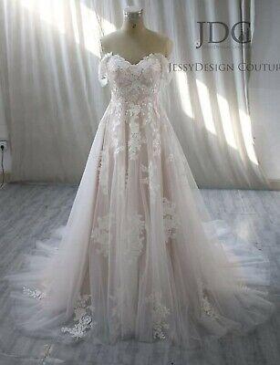 Champagne Lace Wedding Dress Bridal dress Custom made 6 8 10 12 14 16
