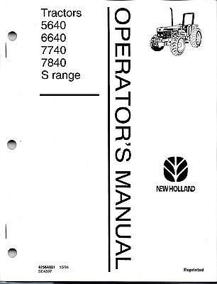 Ford 5640 6640 7740 7840 S Range Tractor Operators Manual -no Cab 42564031