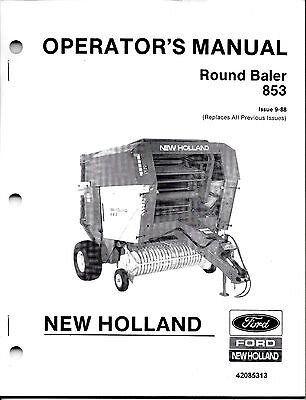 New Holland Baler Manual   Owner's Guide to Business and