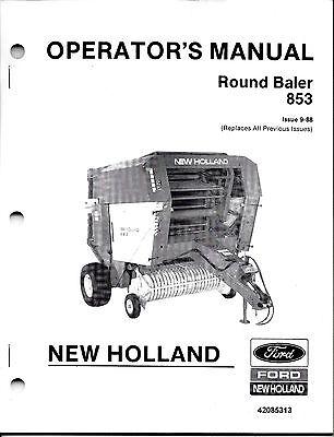 New Holland 853 Round Baler Operator Manual 42085313