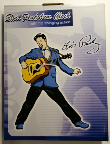 Elvis Presley Pendulum Clock With Hip Swinging Action